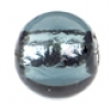 Glass Lamp Bead Round 8mm Montana/Silver Lined